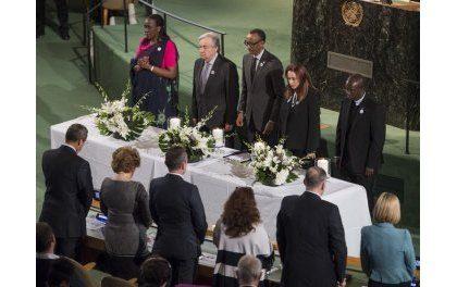 Kagame participe au lancement de cérémonies de commémoration du génocide contre les Batutsi à l'ONU