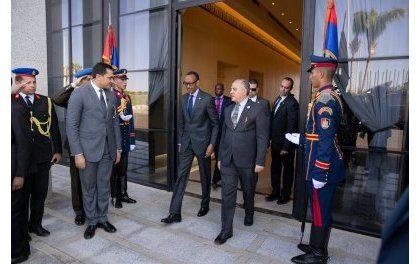 Perezida Kagame yitabiriye inama ya AU yiga ku kibazo cy'umutekano muri Sudani na Libya