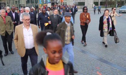 KWIBUKA25 Bruxelles Marche aux flambeaux du 07 Avril 2019
