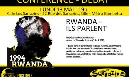 Rencontre-débat – «Rwanda, ils parlent» – 13 mai 2019 – 19h