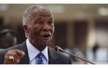 """""""Le Gouvernement raciste d'Afrique du Sud a vendu des armes aux génocidaires contre les Batutsi du Rwanda""""- Thabo Mbeki."""