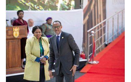 Perezida Paul Kagame yitabiriye irahira rya Cyril Ramaphosa wa Afurika y'Epfo