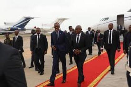 Paul Kagame, Président du Rwanda, Est Arrivé à Kinshasa ce Vendredi 31 Mai.