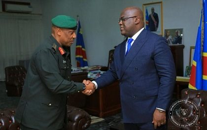 RDC  :  Félix Tshisekedi Reçoit le Chef de l'Armée Rwandaise le Général Nyamvumba