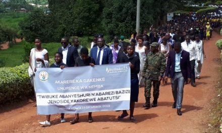 Province du Nord: commémoration des étudiants, enseignants victimes du génocide