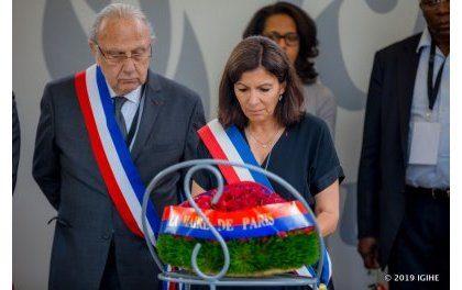 Anne Hidalgo,  Maire  de Paris visite le Mémorial du génocide de Gisozi