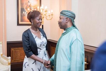 OIF – GABON :  Ali Bongo Reçoit à Libreville la Secrétaire Générale de l'OIF