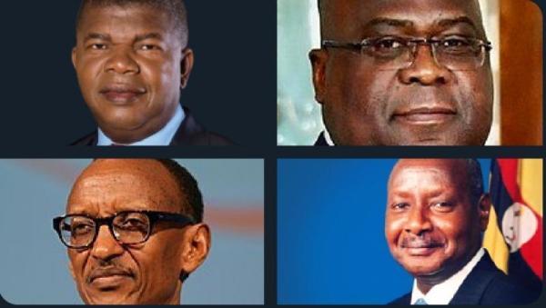 "L'Angola invite Kagame, Museveni et Tshisekedi à un ""sommet quadripartite"""