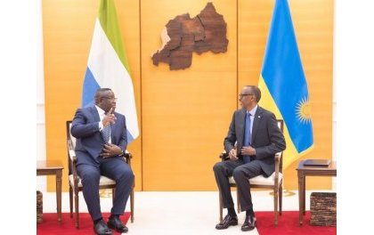 Le président de Sierra Léone à Kigali signe trois accords de coopération bilatérale avec le Rwanda