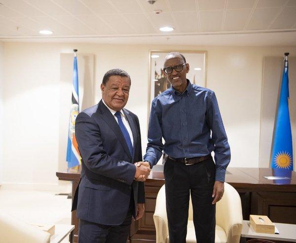 Kagame reçoit l'ancien Président de l'Éthiopie