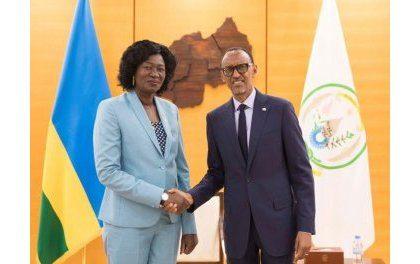 Diplomatie tous azimuts : Kagame reçoit la ministre Awut Deng Acuil du Soudan du Sud
