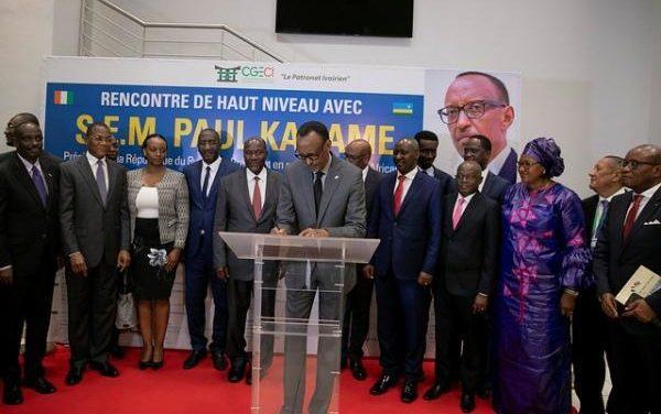 Le Président Kagame invité par le Patronat ivoirien pour présider la CGECI Academy 2019