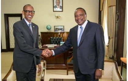 Perezida Kagame yakiriwe na mugenzi we wa Kenya (Amafoto)