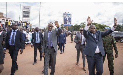 Un accueil chaleureux du Président Paul Kagame en Centrafrique