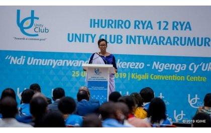 Madamu Jeannette Kagame yagaragaje ko muri Ndi Umunyarwanda harimo umuti w'ibikomere by'amateka