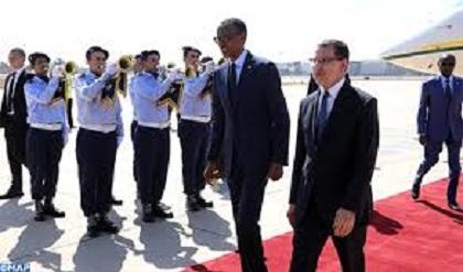 MAROC –RWANDA : Arrivée au Maroc du Président Rwandais Paul Kagame