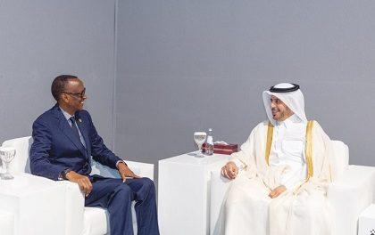 DOHA: Le Premier ministre Al Thani Rencontre le Président Paul Kagame