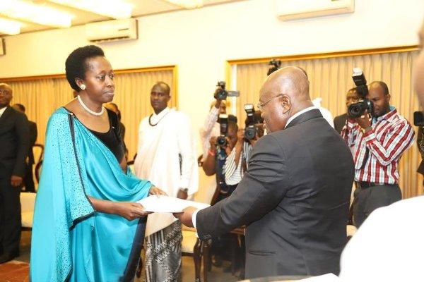 La nouvelle Ambassadrice du Rwanda au Ghana a présenté ses lettres de créance