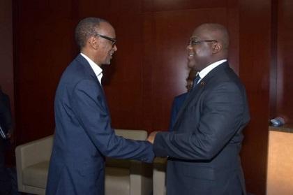 RWANDA – RDC :  Kagame a Félicité Tshisekedi Pour sa Victoire Contre les Groupes Armés