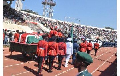 Perezida Kagame yitabiriye umuhango wo gusezera kuri Arap Moi wayoboye Kenya