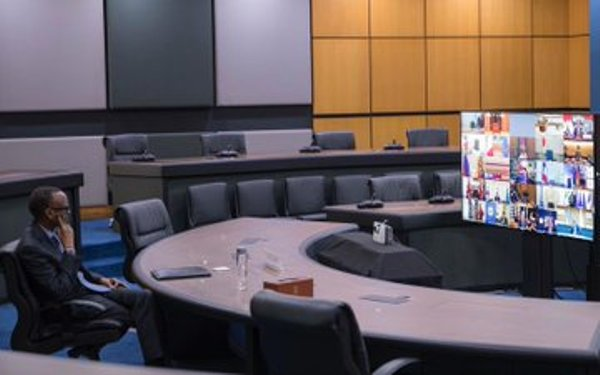 Le Président Kagame a participé au Sommet virtuel du G20
