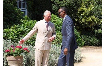 Perezida Kagame yaganiriye n'Igikomangoma cy'u Bwongereza kuri gahunda y'isoko rirambye
