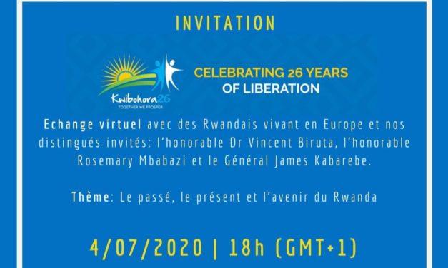 CELEBRATION DE LA 26 ANNEE DE LIBERATION DU RWANDA