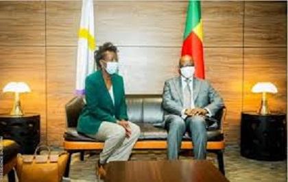 FRANCOPHONIE : Visite Officielle au Bénin de la SG/OIF Louise Mushikiwabo Rencontre Talon