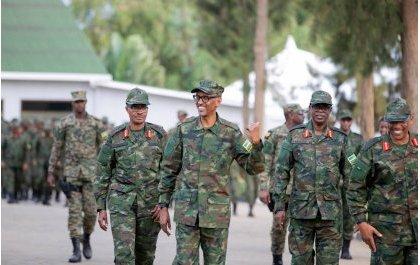 Traditionnels vœux de Nouvel An du Président Paul Kagame aux forces de l'ordre et de défense