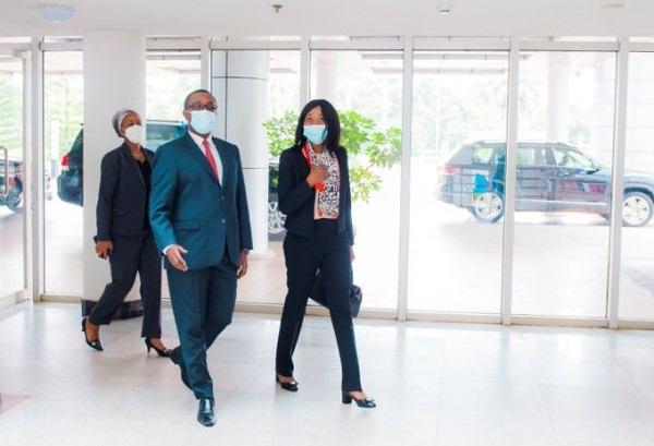 Le chef de la diplomatie rwandaise reçoit son homologue centrafricaine
