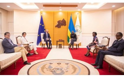 Charles Michel, Président de la Commission européenne reçu par le Président Kagame