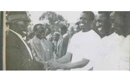 ariye ku mukino wahuje Inkotanyi n'Abakombozi mu 1993, Leta ya Habyarimana ikajiginwa