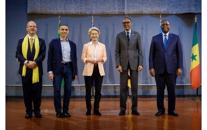 Perezida Kagame yashimye imikoranire na BioNTech iganisha ku gukorera inkingo mu Rwanda